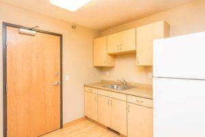 Campus Tech Apartments in Mitchell, SD - Studio Kitchen Sink
