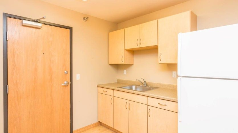 Campus Tech Apartments in Mitchell, SD - Studio Kitchen Sink