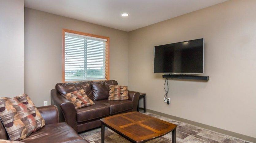 Campus Tech Apartments in Mitchell, SD - Community Room TV