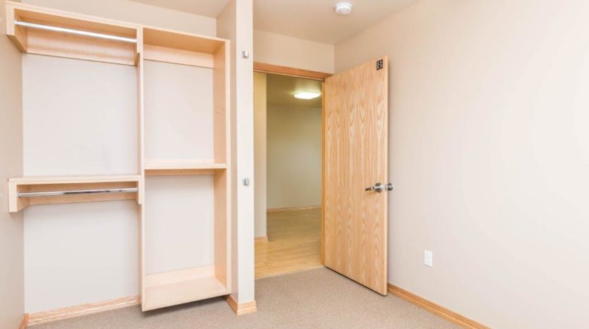 Campus Tech Apartments in Mitchell, SD - Bedroom 1 Closet