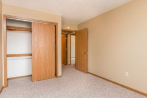 Campus View Apartments in Brookings, SD - Bedroom to Hall
