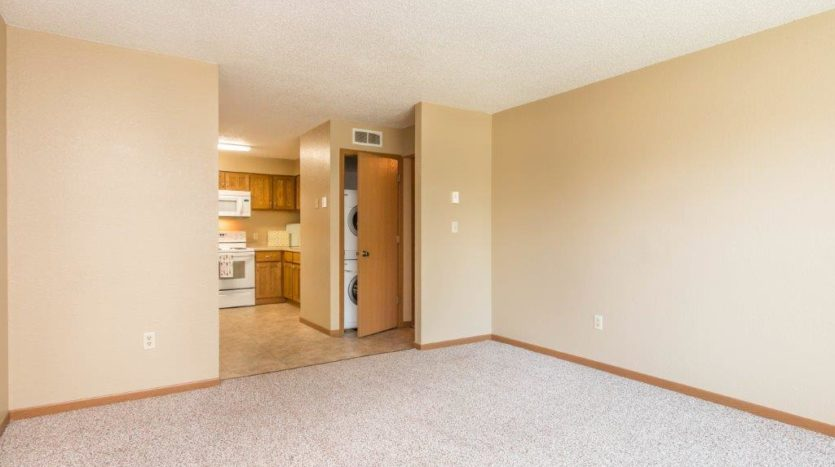 Campus View Apartments in Brookings, SD - Living to Kitchen View