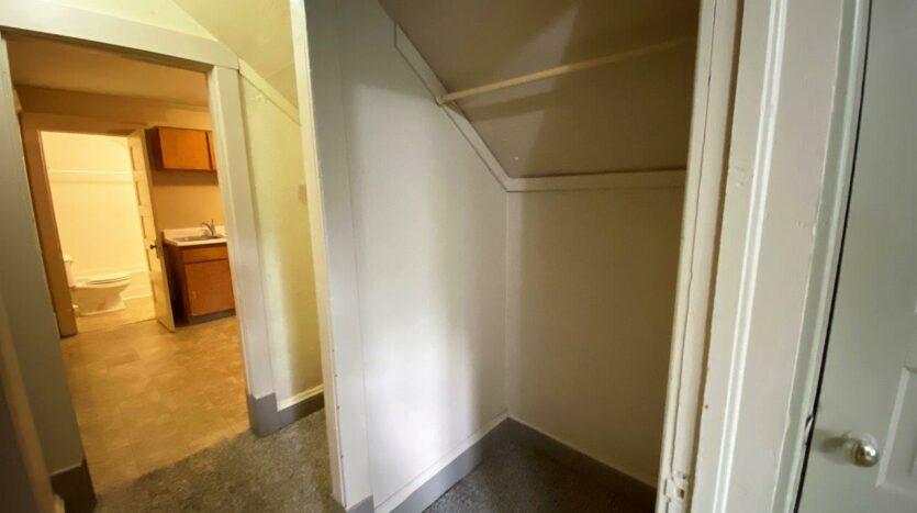 Brownstone Apartments in Brookings, SD - 3rd Floor Apt Bedroom Hallway Closet