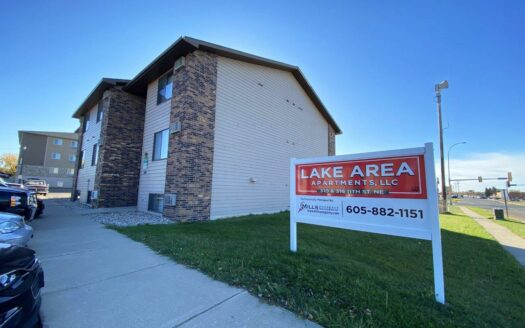 Lake Area Apartments in Watertown, SD - Property Sign and Exterior