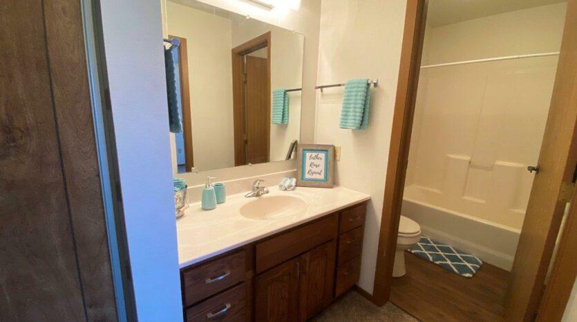Garden Village Townhomes in Brookings, SD - Upstairs Bathroom Vanity