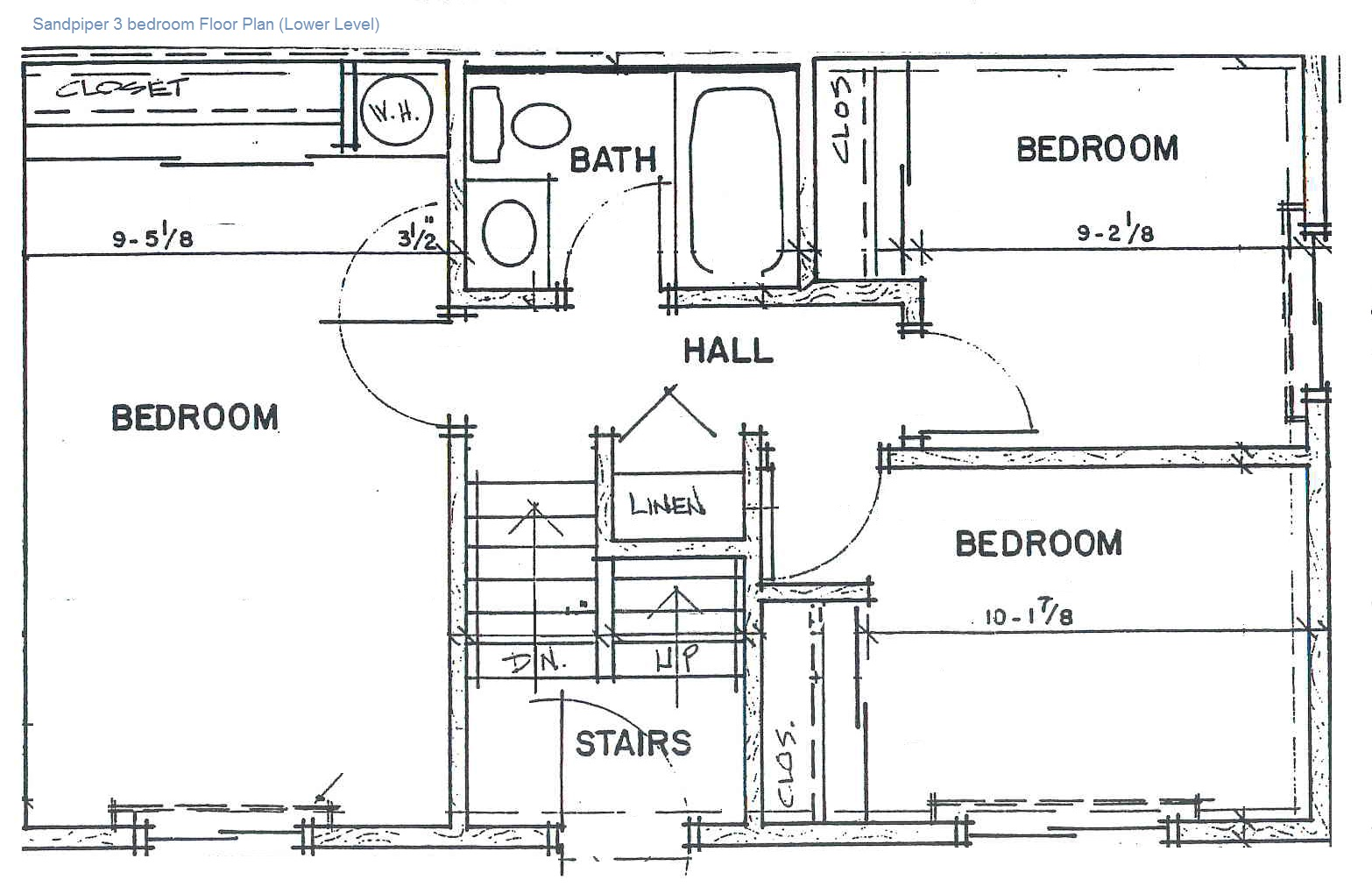 3 Bedroom: Lower Level
