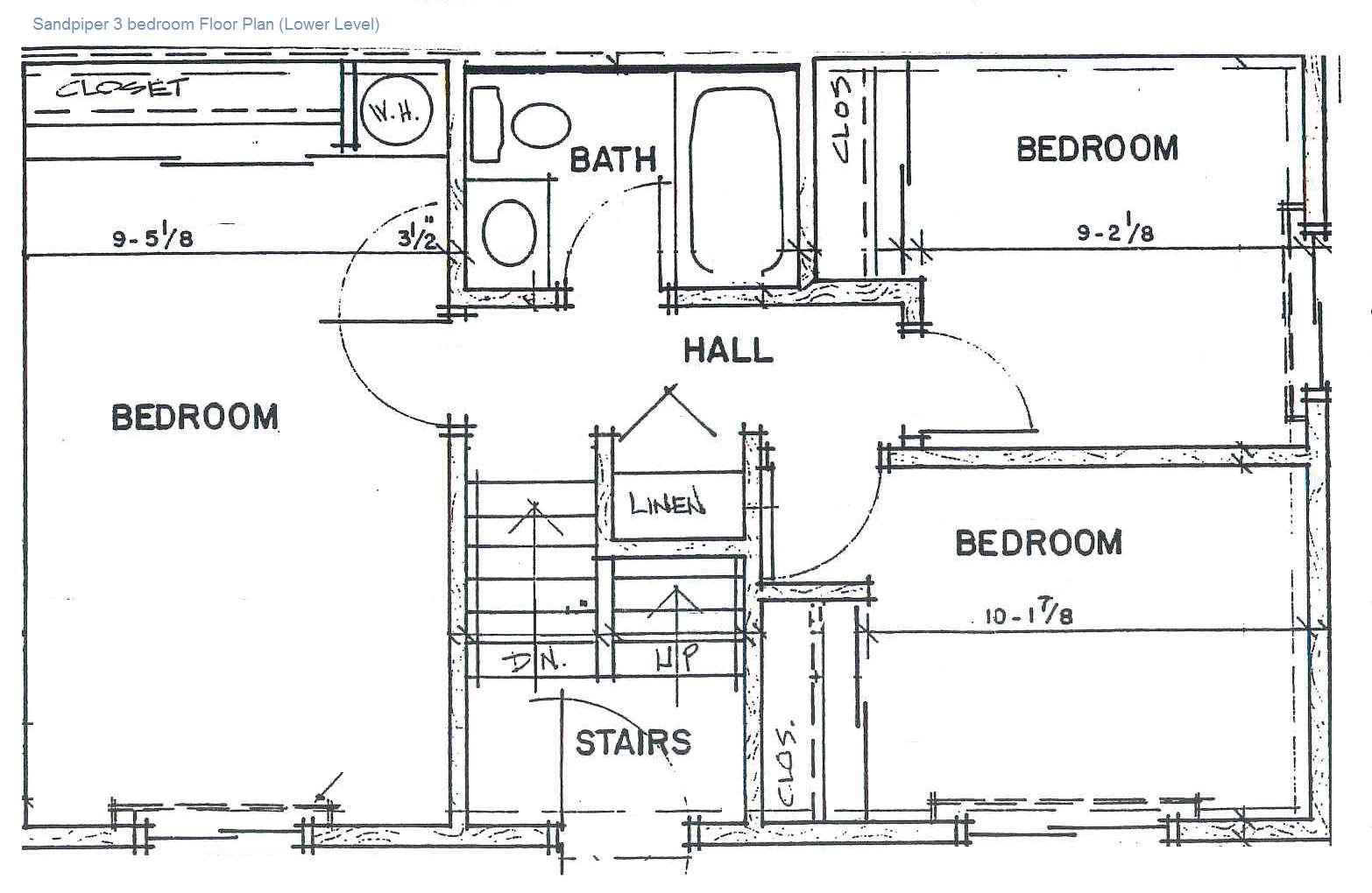 3 Bedroom: Lower Level