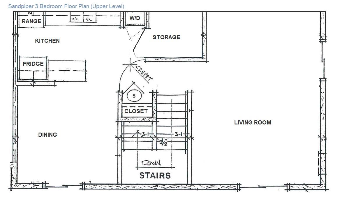 3 Bedroom: Upper Level