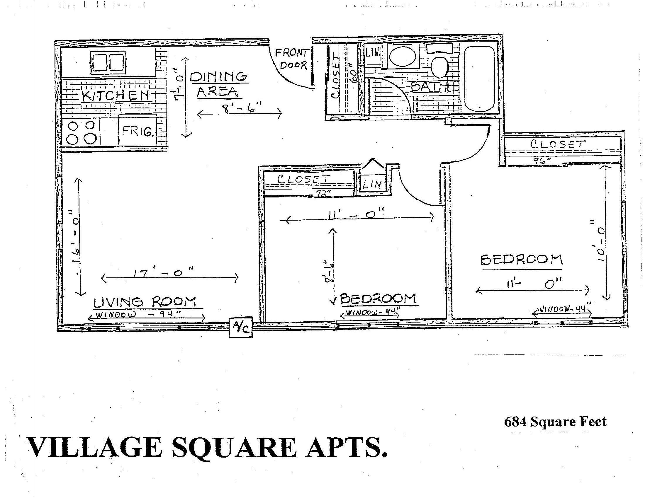 Plan I | Two Bedroom #'s 89