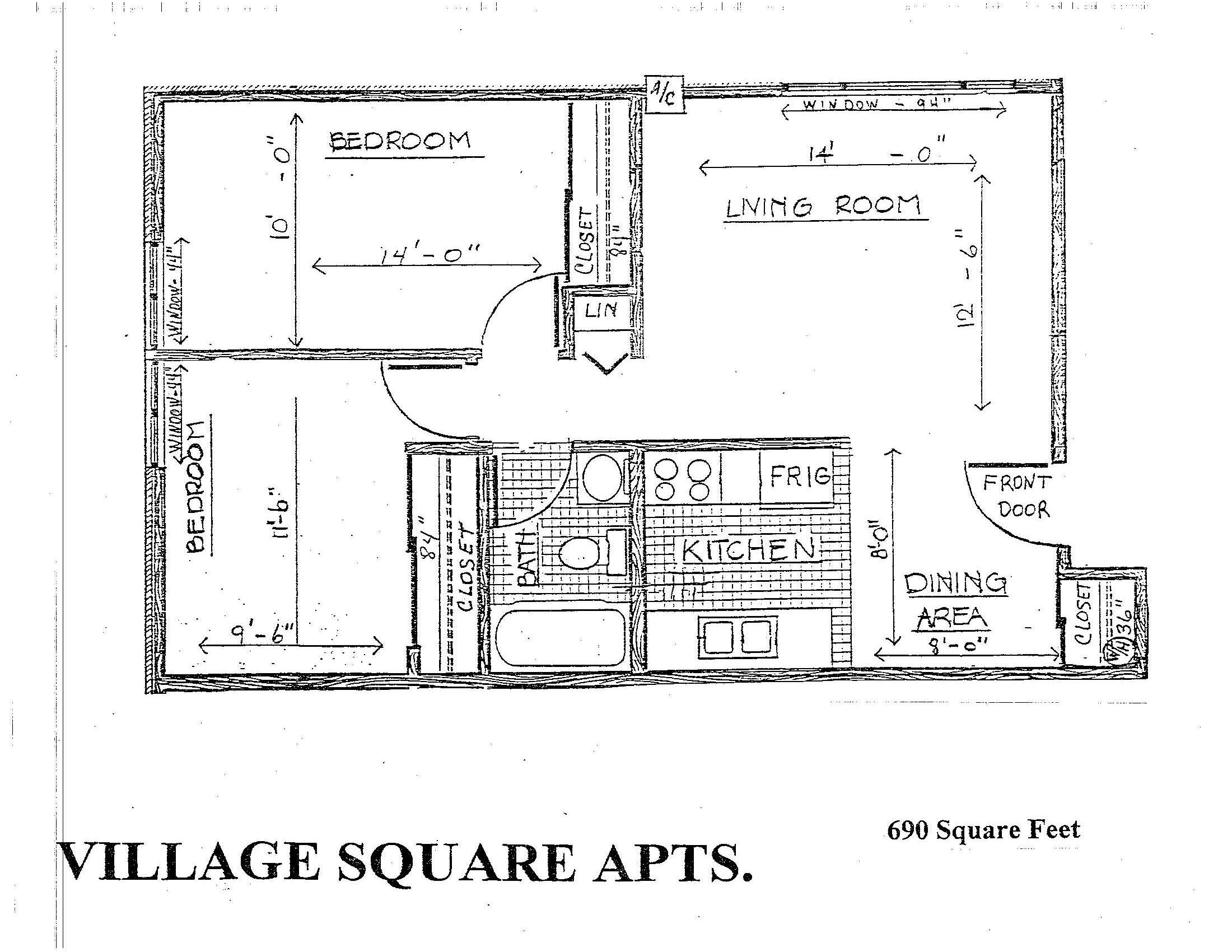 Plan U | Two Bedroom #'s 86