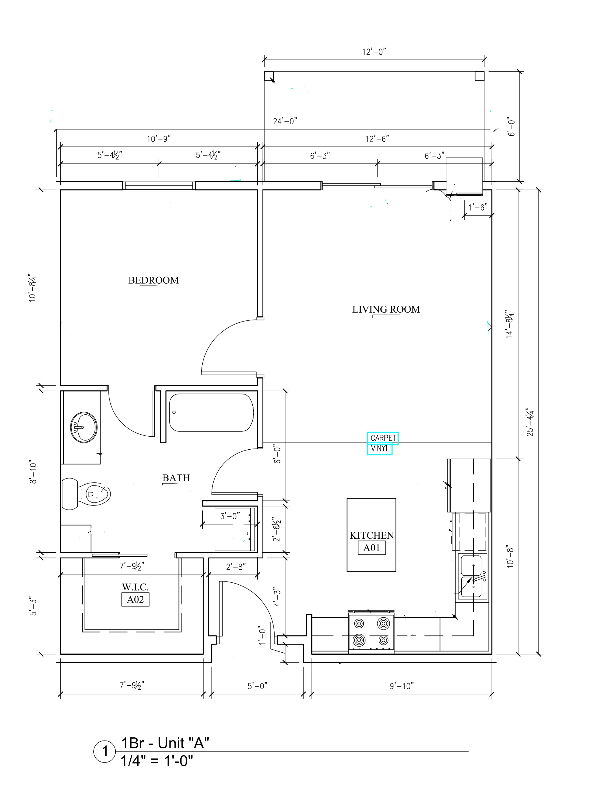 Phase II - 1 Bedroom Floor Plan