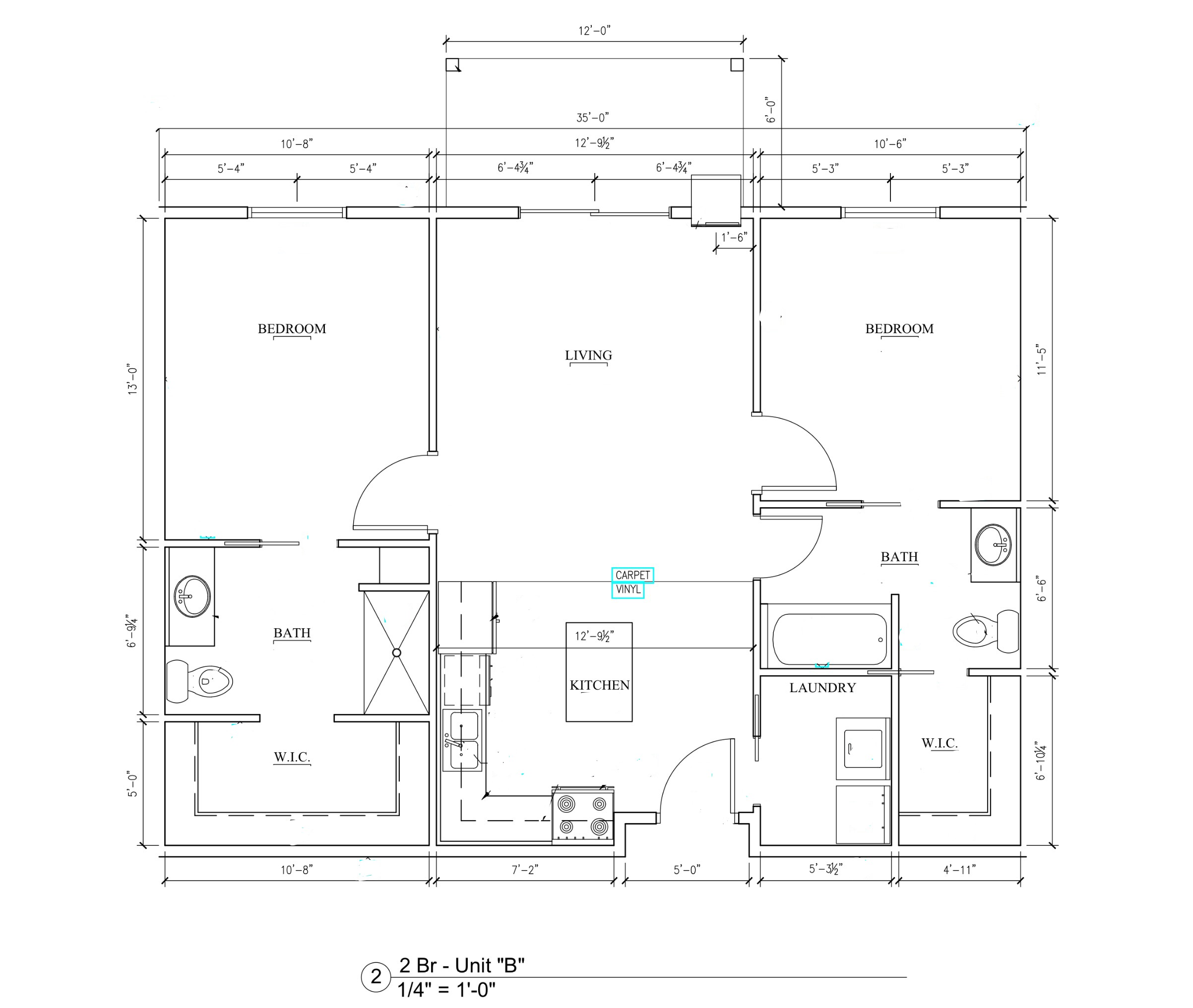 Phase II - 2 Bedroom Floor Plan