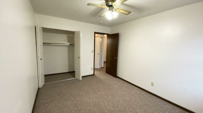 Palace Apartments & Townhomes in Mitchell, SD - 1 Bedroom Apartment Bedroom Closet