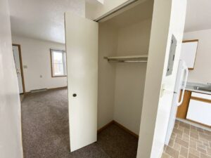 Palace Apartments & Townhomes in Mitchell, SD - 2 Bedroom Townhome Front Closet