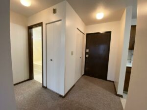 Palace Apartments & Townhomes in Mitchell, SD - 1 Bedroom Apartment Front Door
