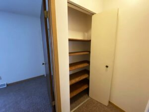 Palace Apartments & Townhomes in Mitchell, SD - 2 Bedroom Townhome Upstairs Closet