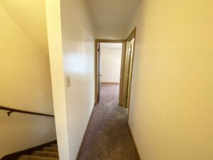 Palace Apartments & Townhomes in Mitchell, SD - 2 Bedroom Townhome Upstairs Hallway