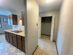 Northland Court Apartments in Mitchell, SD - Alternative 2 Bed Front Closet