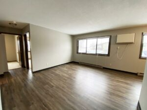 Northland Court Apartments in Mitchell, SD - 2 Bed Living Room and Hallway