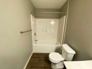 Farmstead in White, SD - Master Bathroom Bathtub and Shower