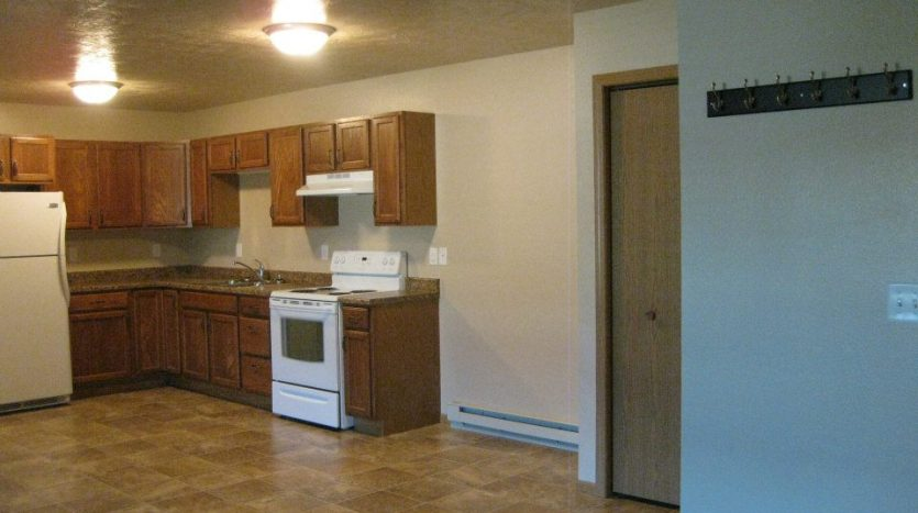 North Prairie Apartments in Aurora SD - View to Kitchen