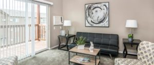 Edgerton Apartments II in Mitchell, SD 1Bed 1Bath-Living Room