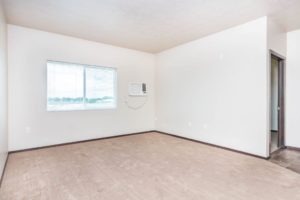 Edgerton Apartments in Mitchell, SD-2Bed 1Bath-Living Room View