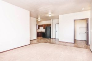 Edgerton Apartments in Mitchell, SD-2Bed 1Bath-Kitchen ViewEdgerton Apartments-Kitchen View