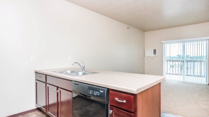 Edgerton Apartments in Mitchell, SD-1Bed 1Bath-Kitchen View