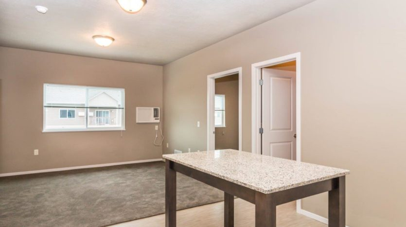 Edgerton Apartments II in Mitchell, SD 2Bed 2Bath-Kitchen Island
