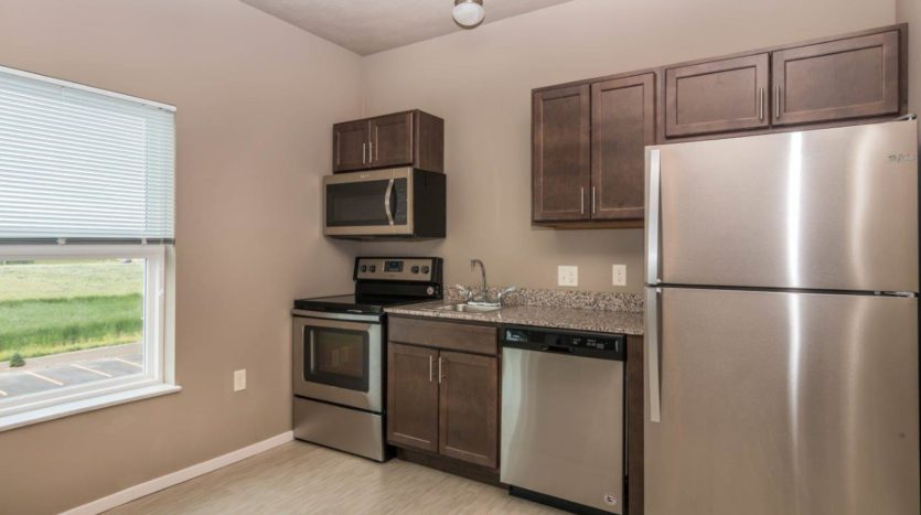 Edgerton Apartments II in Mitchell, SD Studio-Kitchen