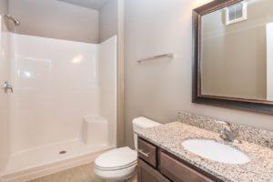Edgerton Apartments II in Mitchell, SD Studio-Bathroom