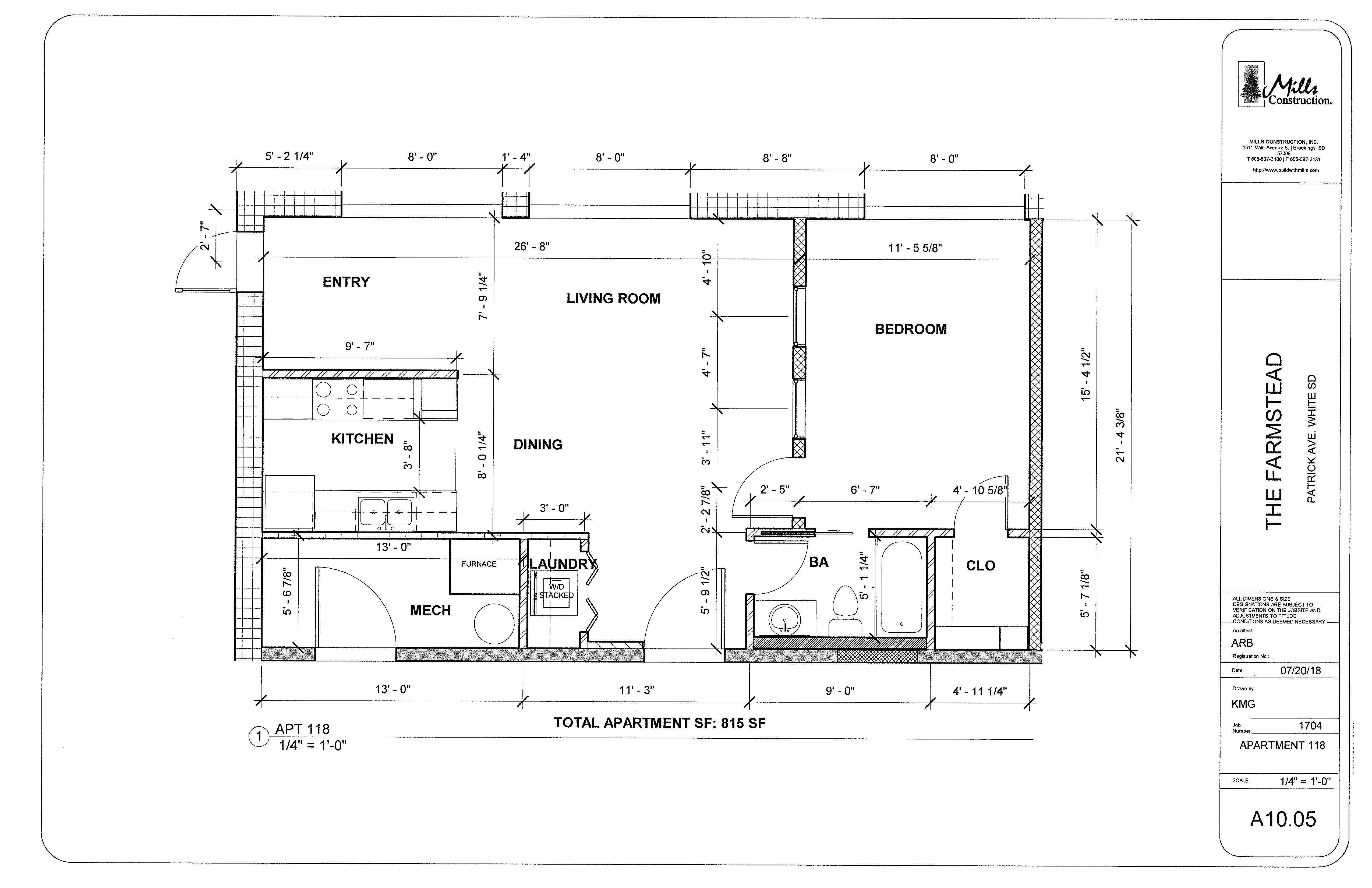 Floor Plan Apt 118
