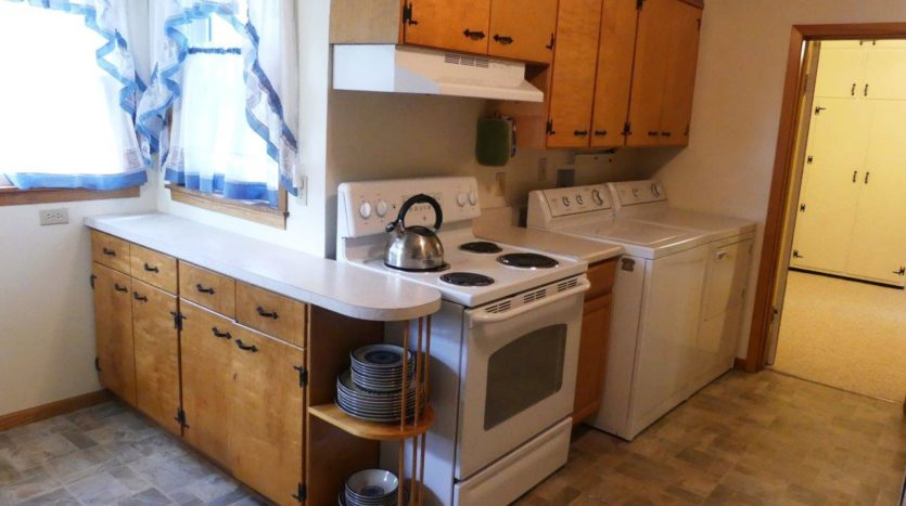 318 1/2 7th Ave South in Brookings, SD - Kitchen with Laundry (Upper Level)