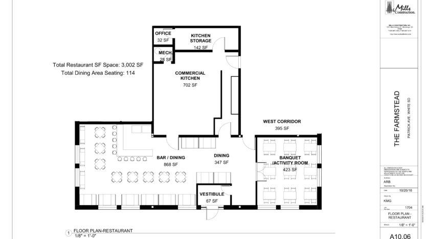 Restaurant - Floor Plan Farmstead