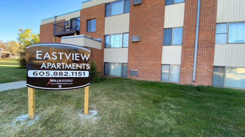 Eastview Apartments in Watertown, SD - Exterior and Property Sign
