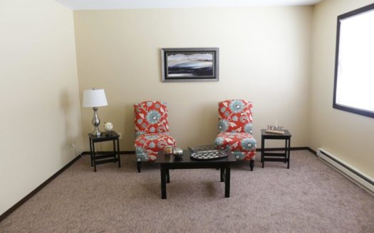 Center Street Apartments in Flandreau, SD - Living Room