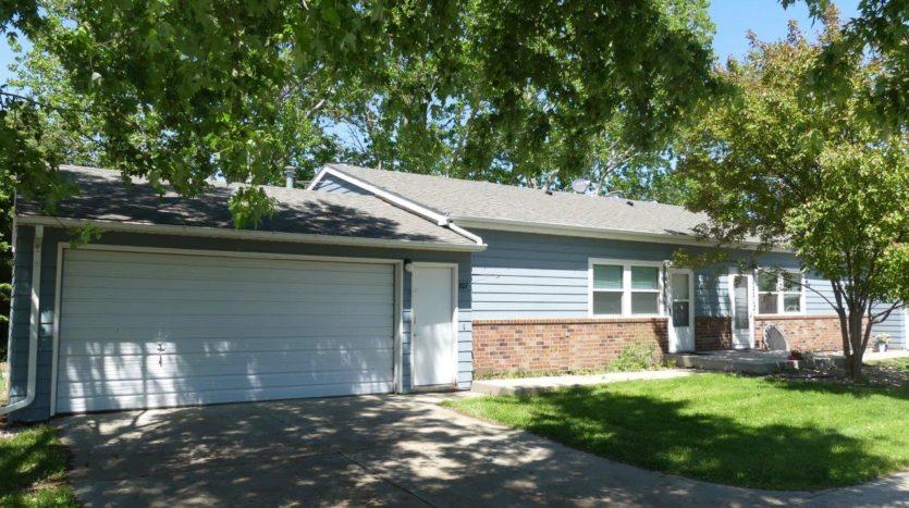 Prairie Circle Duplexes in Brookings, SD - Blue Exterior