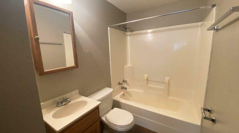 Prairie Circle Apartments in Brookings, SD - Lower Level Apartment Bathroom