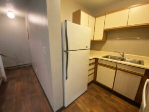 Prairie Circle Apartments in Brookings, SD - Lower Level Apartment Kitchen