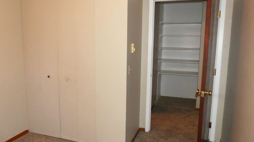 Hill Center Apartments in Salem, SD - Bedroom 1 Closet (Two Bedroom Apartment)