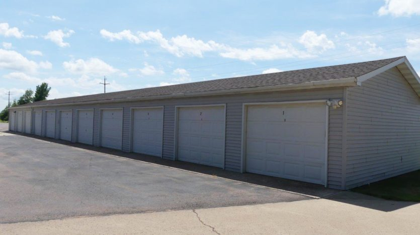 Southtown Apartments in Salem, SD - Garages
