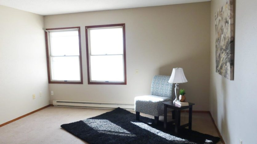 Hill Center Apartments in Salem, SD - Living Room (One Bedroom Apartment)
