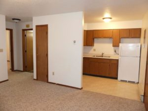 Southtown Apartments in Salem, SD - Living Room/Kitchen