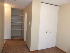 Hill Center Apartments in Salem, SD - Bedroom Area Closet (Studio Apartment)
