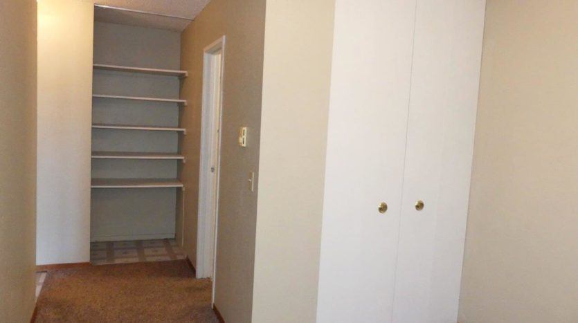 Hill Center Apartments in Salem, SD - Bedroom Area Closet (Studio Apartment)