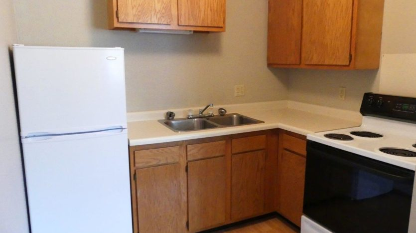 Hill Center Apartments in Salem, SD - Kitchen (Studio Apartment)