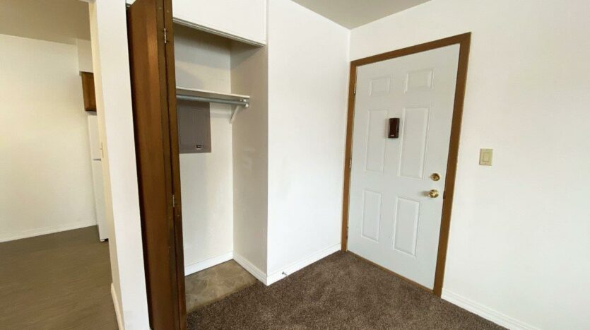 Winsor Apartments in Mitchell, SD - Front Closet