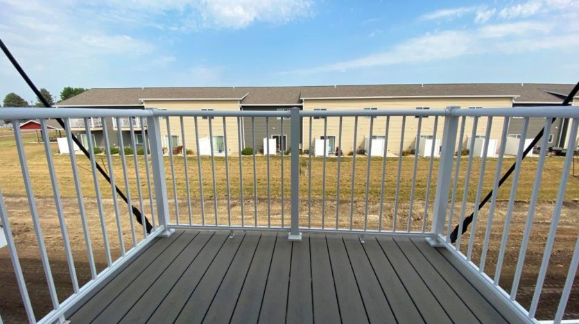 Lake Area Townhomes Phase IIB in Madison, SD - 1 Bedroom Deck