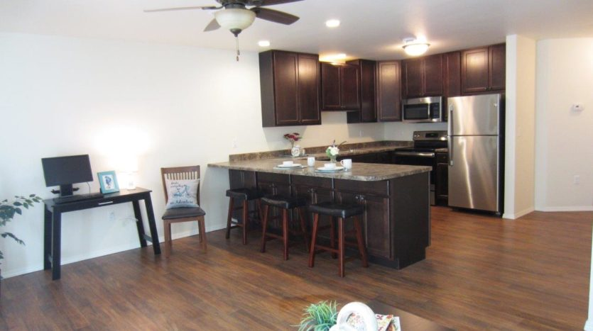 Lake Area Townhomes Phase II in Madison, SD - Kitchen/Living Room